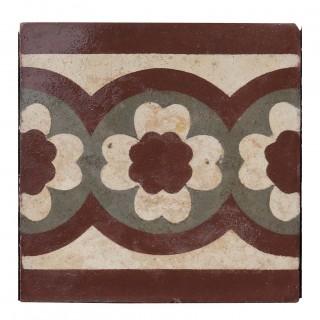 Reclaimed Encaustic Floor Border Tiles (40 Qty)