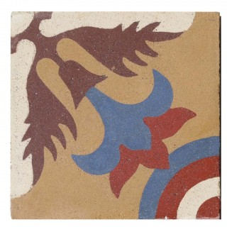 Reclaimed Patterned Encaustic Floor Tiles 3 m2 (32 sq ft)
