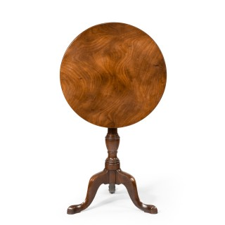 A George III Mahogany Tilt-Top Occasional Table
