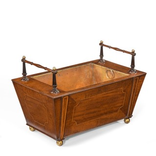 A George III Fiddleback Mahogany Table Jardinière