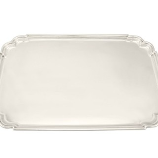 Sterling Silver Tea Tray - Art Deco Style - Vintage George VI (1946)