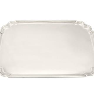 Sterling Silver Tea Tray - Art Deco Style - Vintage George VI (1946)