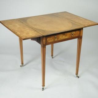 Exceptional Satinwood Pembroke Table