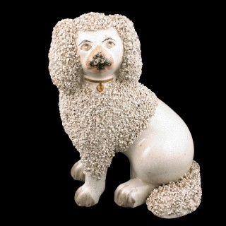 Victorian Staffordshire Pottery Dog