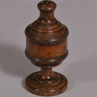 Antique Treen 19th Century Sycamore Pepperette or Spice Shaker
