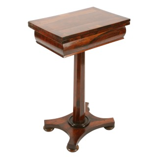 William IV Rosewood Games Table