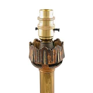 Victorian Gilt Brass Table Lamp