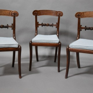 Superb set of eight Regency mahogany dining chairs in exceptional original condition