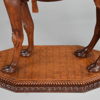 Late 19th century Anglo Indian hardwood camel table of superb quality, possibly from the Gujarat region of India