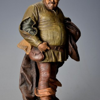 Late 19th century terracotta figure of 'Falstaff' by Friedrich Goldscheider