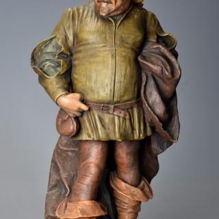 Late 19th century terracotta figure of 'Falstaff' by Friedrich Goldscheider