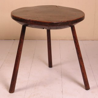 18th Century Burr Ash Dairy Table