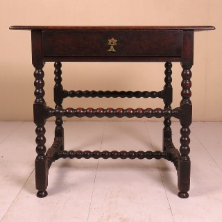 Mid 17th Century Oak Side Table