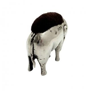 Antique Edwardian Sterling Silver Elephant Pin Cushion 1905