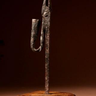 Wrought Iron Standing Rush Light 17/18th Century