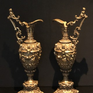 Pair of Ornamental  Ewers