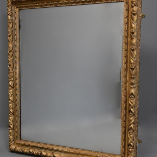 Large 19th century carved giltwood mirror, possibly French
