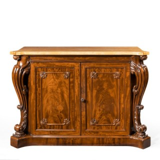 An Early Victorian Two-Door Mahogany Side Cabinet Attributed To Gillows