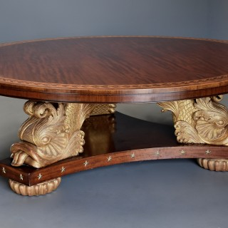 Stunning extremely large & rare superb quality early 20thc Regency style centre table