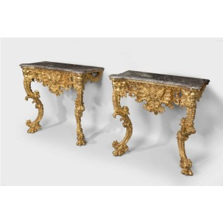 Pair of Mid-18th Century Pier Tables.