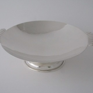 Art Deco George VI Sterling silver dish