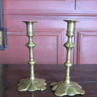 Pair of tall candlesticks 18th century