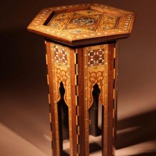 Original Inlayed Table Ottoman empire circa 1900