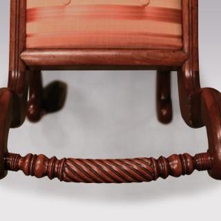 Pair of Regency period mahogany Window Seats.