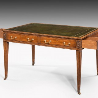 George III Period Mahogany Library Table