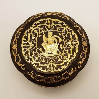 Antique Gold Pique Box