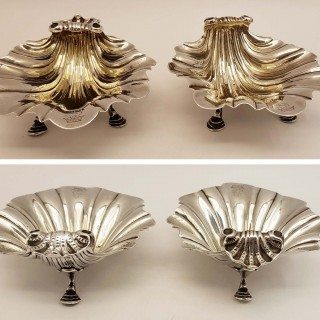 Pair Of Victorian Shell Dishes