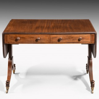 Regency Period Sofa Table with Well Figured Timbers