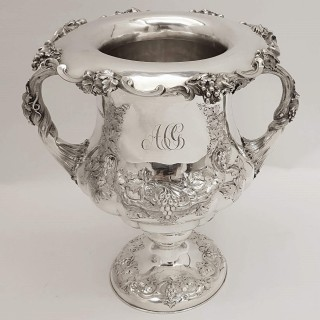 Pair of Antique Silver Wine Coolers