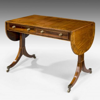 Regency Period Mahogany Sofa Table of Shallow Proportions