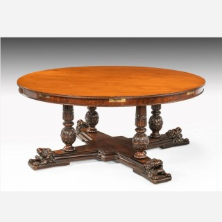 Regency Period Mahogany Extending Circular Table
