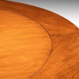 Regency Period Mahogany Extending Circular Table