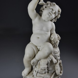 Fine quality 19thc Italian carrara marble sculpture of 'Young Dionysus' (or Bacchus) signed Aristide Fontana