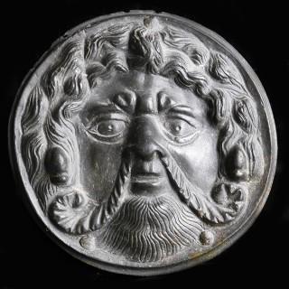 Ancient Roman Bronze Achelous Plaque