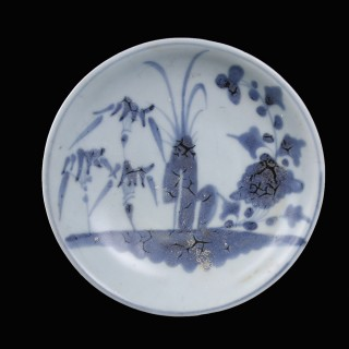 Blue and White Tek Sing Plate
