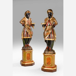 Pair of 19th Century Venetian Blackamoors