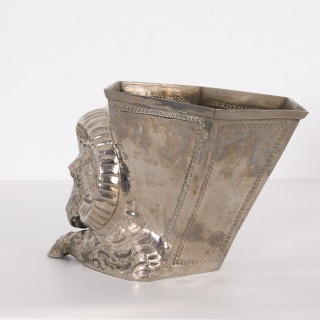 Silver plated vase by Gabriella Crespi