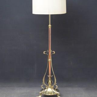 Art Nouveau Floor Standing Lamp