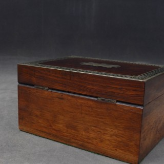 Early Victorian Rosewood Jewellery Box