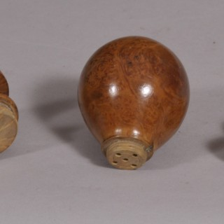 Antique Treen Late 18th Century Burr Boxwood Spice Shaker
