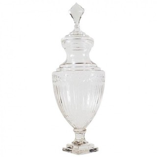 Large Edwardian, Cut Glass Apothecary Jar, circa 1910