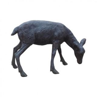 Cast Bronze Grazing Fawn