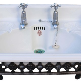 An Antique Sink or Basin with Cast Iron Bracket