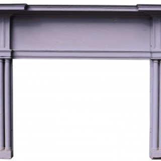 An Antique Wooden Federal Style Fireplace Surround