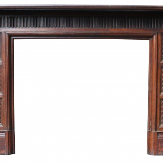 A Reclaimed Victorian Jacobean Style Fireplace Surround
