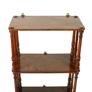 Victorian Walnut Hanging Shelves